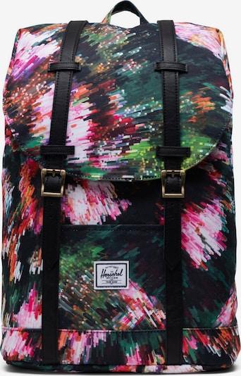 Herschel Rucksack 'Retreat' in grasgrün / pink / schwarz, Produktansicht