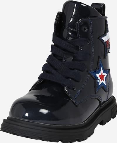 TOMMY HILFIGER Stiefel in marine / rot / weiß, Produktansicht