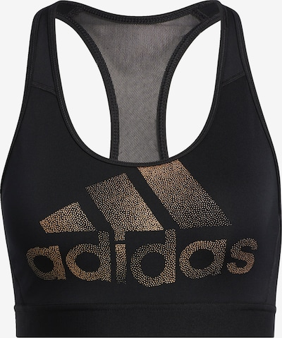 ADIDAS PERFORMANCE Sport-BH 'Holiday' in gold / schwarz, Produktansicht
