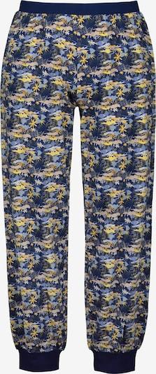 Ulla Popken Pyjamabroek in de kleur Navy / Geel, Productweergave