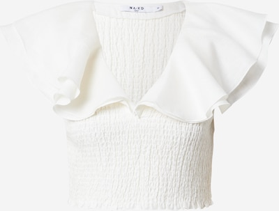 NA-KD Bluse in weiß, Produktansicht