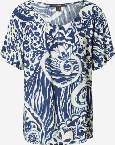 Bluză Esprit Collection pe albastru închis / alb murdar, Vizualizare produs