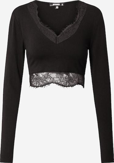 Missguided Shirt in schwarz, Produktansicht