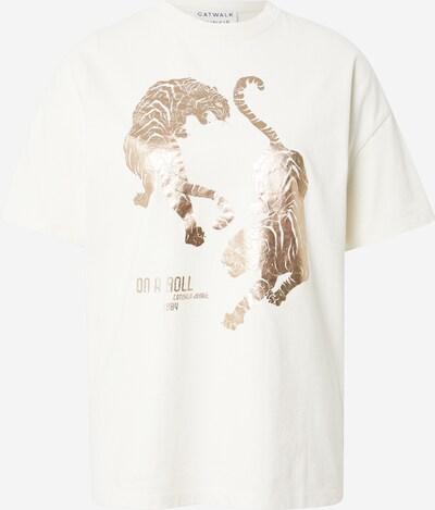 CATWALK JUNKIE Shirt in gold / weiß, Produktansicht