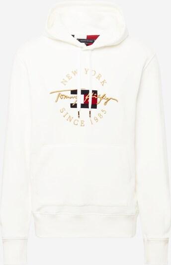 TOMMY HILFIGER Sweatshirt i guld / svart / vit: Sedd framifrån