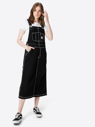 Salopetă rochie scurtă 'Bib' Carhartt WIP pe negru, Vizualizare model
