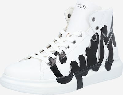 GUESS Sneakers high 'SALERNO' in black / white, Item view