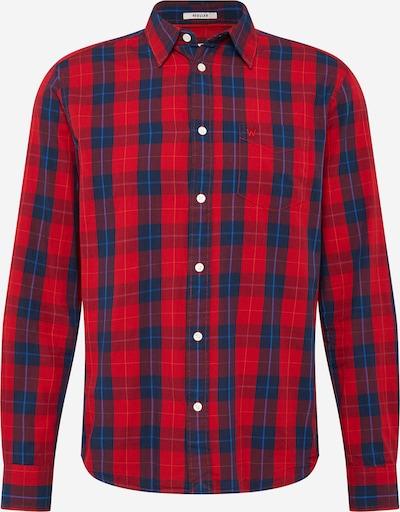 WRANGLER Hemd in dunkelblau / rot, Produktansicht