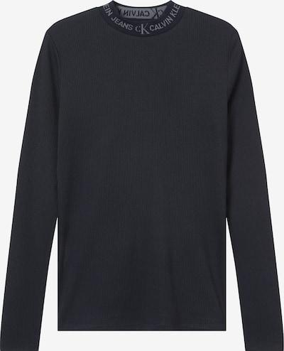 Calvin Klein Jeans T-Krekls pelēks / melns, Preces skats