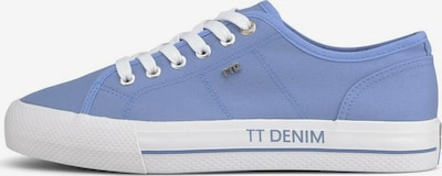 TOM TAILOR DENIM Sneaker in blau / weiß, Produktansicht