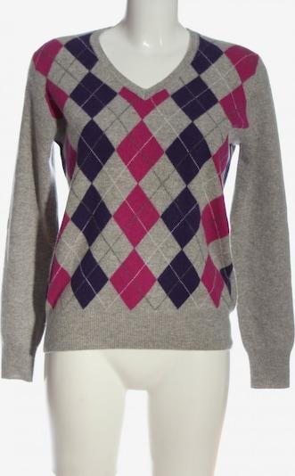 Sandra Pabst Cashmerepullover in L in blau / hellgrau / pink, Produktansicht