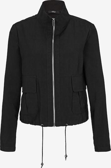 s.Oliver BLACK LABEL Übergangsjacke in schwarz, Produktansicht