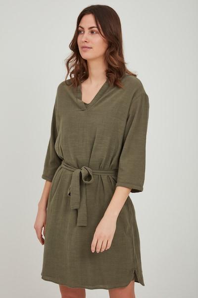 Fransa Blusenkleid in grün / khaki, Modelansicht