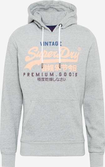Superdry Sweatshirt i sølvgrå / lyseorange, Produktvisning