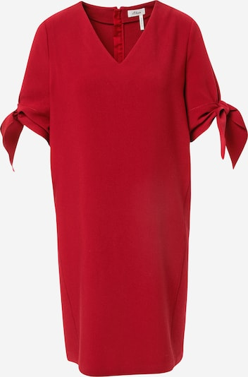 s.Oliver BLACK LABEL Kleid in feuerrot, Produktansicht