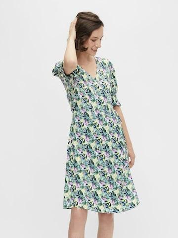 PIECES Shirt Dress 'Mikki' in Green