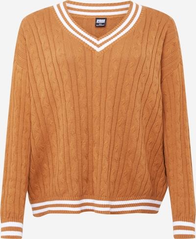 Urban Classics Curvy Sweter w kolorze brązowy / białym, Podgląd produktu