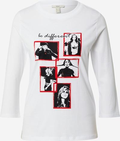 EDC BY ESPRIT Shirt in rot / schwarz / weiß, Produktansicht