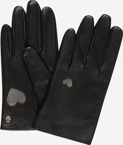 Roeckl Fingerhandschuhe 'Tuileries Touch' in schwarz / silber, Produktansicht