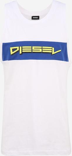 DIESEL T-Krekls zils / dzeltens / balts, Preces skats