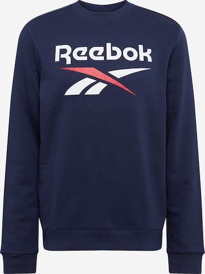REEBOK Sportsweatshirt in blau / rot / weiß, Produktansicht