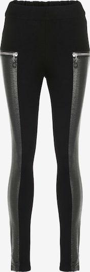 CIPO & BAXX Leggings mit Reißverschluss aus Leder in schwarz, Produktansicht