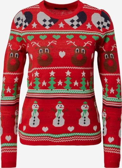 ONLY Pullover 'Xmas Vibe' in mischfarben / rot, Produktansicht