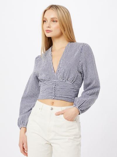 ABOUT YOU Bluza 'Giana' u plava / bijela, Prikaz modela