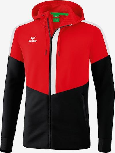 ERIMA Trainingsjacke in hellrot / schwarz / weiß, Produktansicht