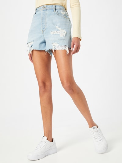 HOLLISTER Shorts in blue denim, Modelansicht