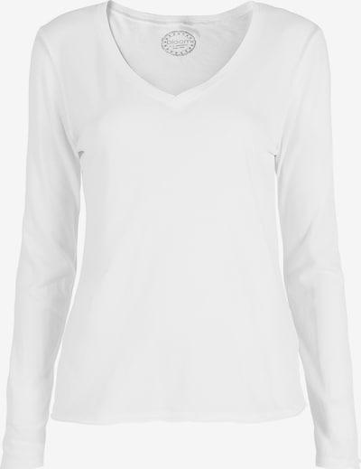 BLOOM Shirt Longsleeve in weiß, Produktansicht