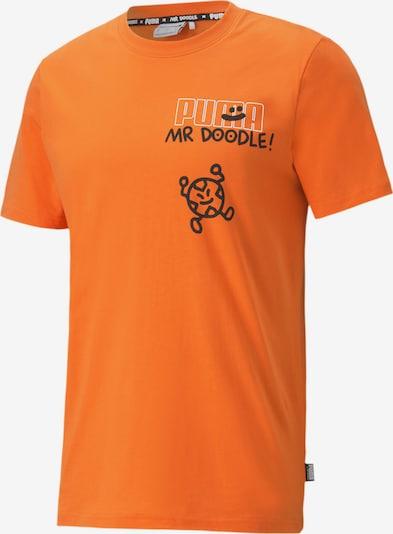PUMA T-shirt fonctionnel en orange / noir, Vue avec produit