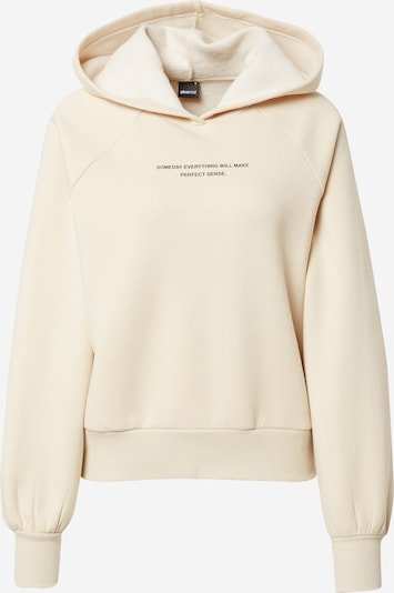 Gina Tricot Sweatshirt 'Ellen' i lysebeige / sort, Produktvisning
