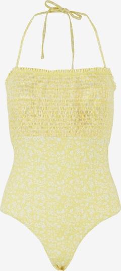 PIECES Badeanzug 'Gaya' in gelb / weiß, Produktansicht
