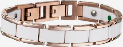 Lunavit Armband 'Olymp' in de kleur Goud / Wit, Productweergave