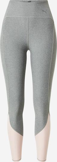Pantaloni sport PUMA pe gri amestecat / roz pastel, Vizualizare produs