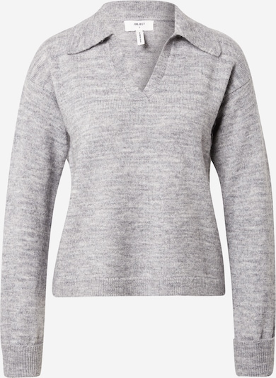 OBJECT Pullover 'LAUREN' in graumeliert, Produktansicht