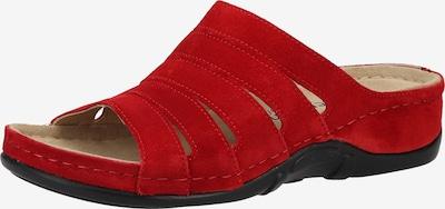BERKEMANN Mule en rouge, Vue avec produit