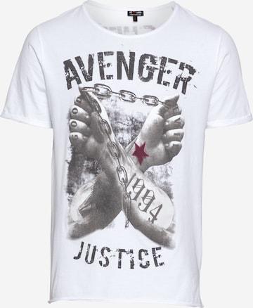 Key Largo Тениска 'LIBERATE' в бяло