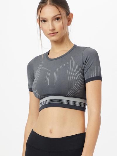 ONLY PLAY T-shirt fonctionnel 'MERETA' en gris / graphite / gris clair: Vue de face
