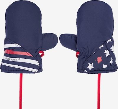 MAXIMO Handschuhe in navy / rot / weiß, Produktansicht