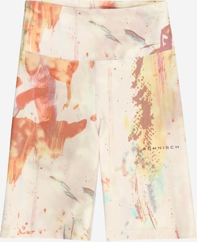 Röhnisch Pantalon de sport en beige / jaune / rose pastel / rouge feu, Vue avec produit
