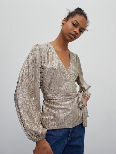 bézs / ezüst EDITED Blúz 'Neyla', Modell nézet