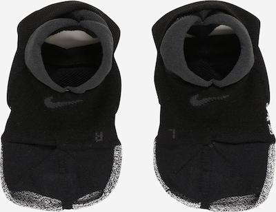 NIKE Chaussettes de sport 'Grip Studio' en noir / blanc chiné, Vue avec produit