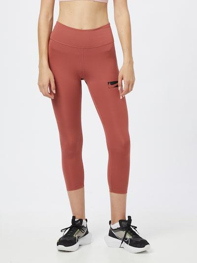 NIKE Športne hlače | melona / črna / bela barva, Prikaz modela