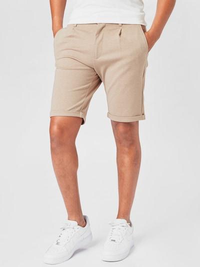 Lindbergh Kalhoty se sklady v pase - písková, Model/ka