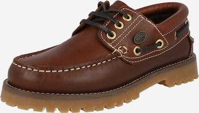 Pantofi cu șireturi Dockers by Gerli pe maro castaniu, Vizualizare produs