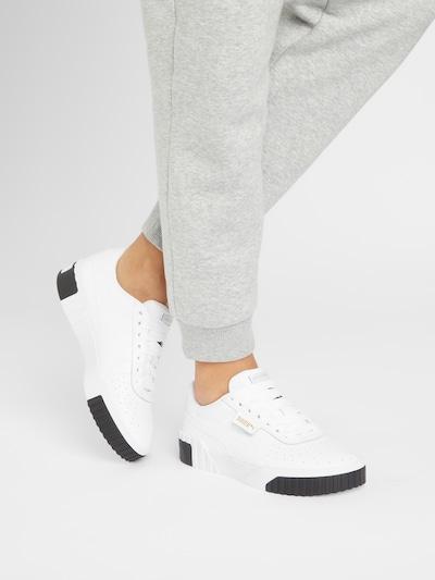 PUMA Sneakers laag 'Cali' in de kleur Zwart / Wit: Vooraanzicht