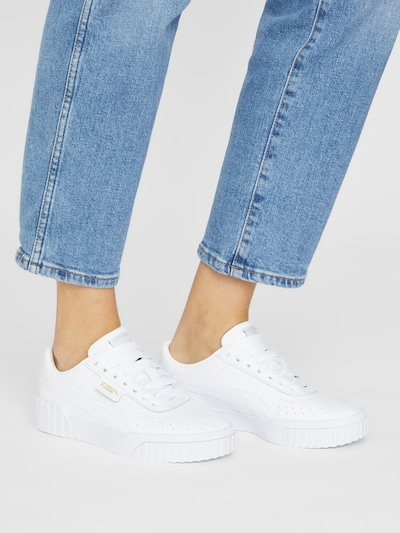 Sneaker low 'Cali' PUMA pe alb: Privire frontală