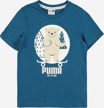 PUMA Majica 'Animals Suede' u bež / plava / bijela, Pregled proizvoda